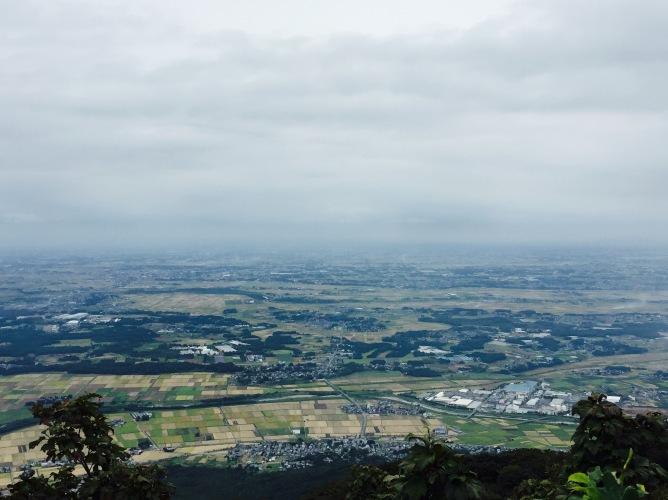 View from Nantai san (871 metres)